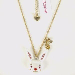 Betsey Johnson Bunny Rabbit Pendant Necklace
